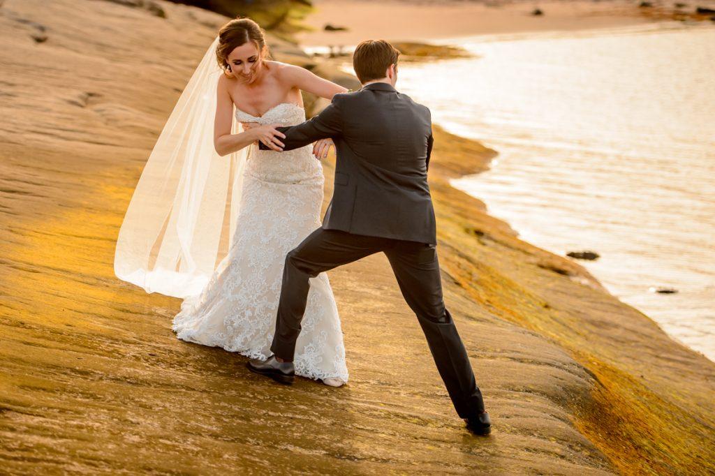 applehead-pat-brittany-fox-harbour-wedding-bride-slip-fall-water11