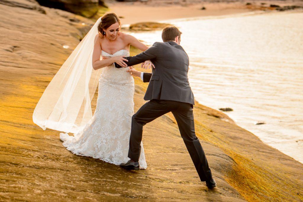 applehead-pat-brittany-fox-harbour-wedding-bride-slip-fall-water12