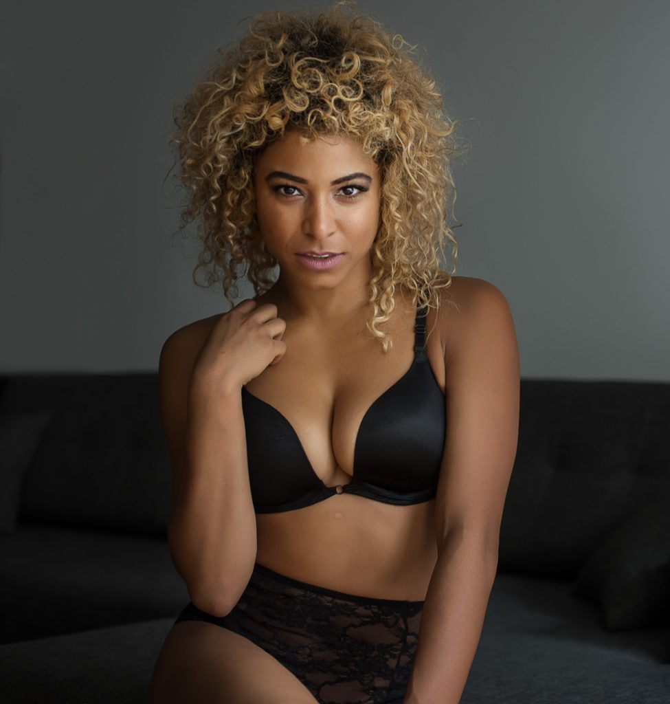 boudoir photograph female black underwear